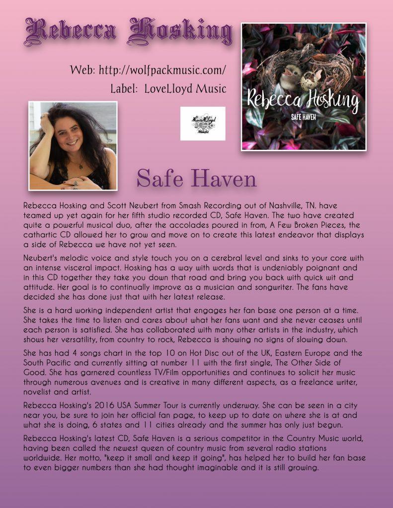 Rebecca Hosking Safe Haven EPK